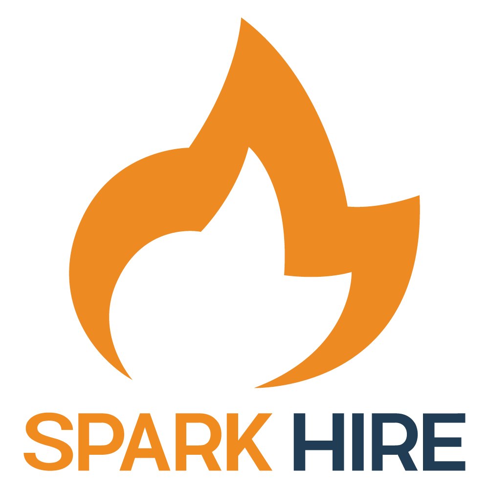 Spark Hire Vertical Logo White Background