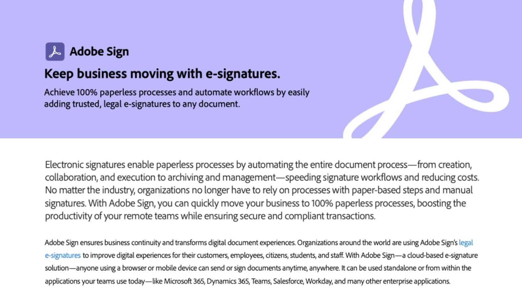 Adobe Sign Solution Brief